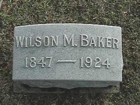 BAKER, WILSON MARION - Champaign County, Ohio | WILSON MARION BAKER - Ohio Gravestone Photos