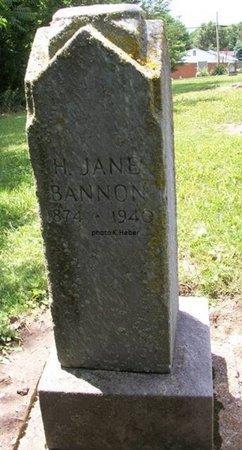 BANNON, HANNAH JANE - Champaign County, Ohio | HANNAH JANE BANNON - Ohio Gravestone Photos