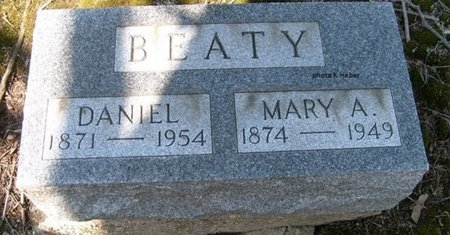 BEATY, MARY ANGELINE - Champaign County, Ohio | MARY ANGELINE BEATY - Ohio Gravestone Photos