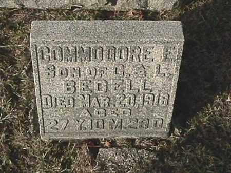 BEDELL, COMMADORE ELLSWORTH - Champaign County, Ohio | COMMADORE ELLSWORTH BEDELL - Ohio Gravestone Photos