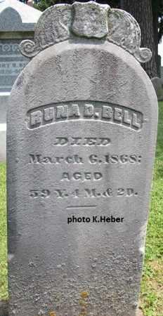 BELL, RUNA D - Champaign County, Ohio | RUNA D BELL - Ohio Gravestone Photos