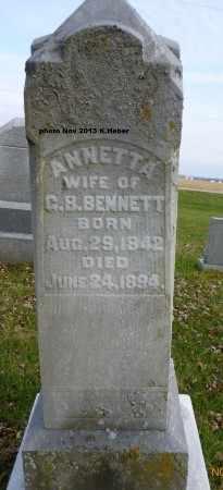 CRABILL BENNETT, ANNETTA - Champaign County, Ohio | ANNETTA CRABILL BENNETT - Ohio Gravestone Photos