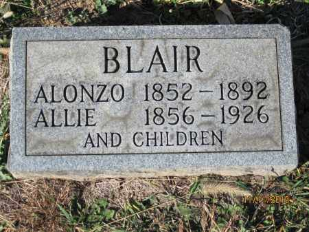 BLAIR, SARAH ALICE CLARK - Champaign County, Ohio | SARAH ALICE CLARK BLAIR - Ohio Gravestone Photos