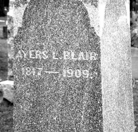 BLAIR, AYERS LAFORGE - Champaign County, Ohio | AYERS LAFORGE BLAIR - Ohio Gravestone Photos