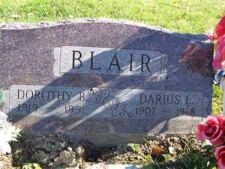 BLAIR, DARIUS L - Champaign County, Ohio | DARIUS L BLAIR - Ohio Gravestone Photos