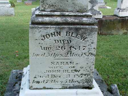 BLEW, JOHN - Champaign County, Ohio | JOHN BLEW - Ohio Gravestone Photos
