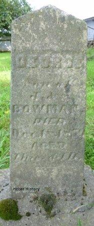 BOWMAN, GEORGE - Champaign County, Ohio | GEORGE BOWMAN - Ohio Gravestone Photos