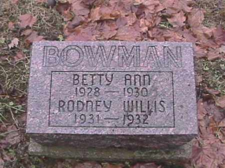 BOWMAN, BETTY ANN - Champaign County, Ohio | BETTY ANN BOWMAN - Ohio Gravestone Photos
