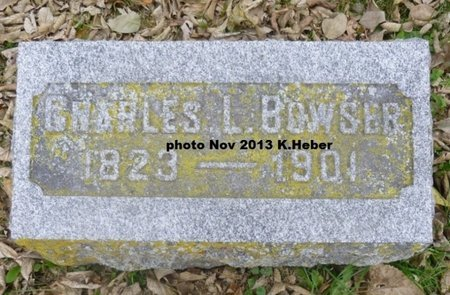 BOWSER, CHARLES L - Champaign County, Ohio | CHARLES L BOWSER - Ohio Gravestone Photos