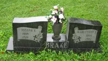 BRAKE, JOSEPH EDWARD - Champaign County, Ohio | JOSEPH EDWARD BRAKE - Ohio Gravestone Photos