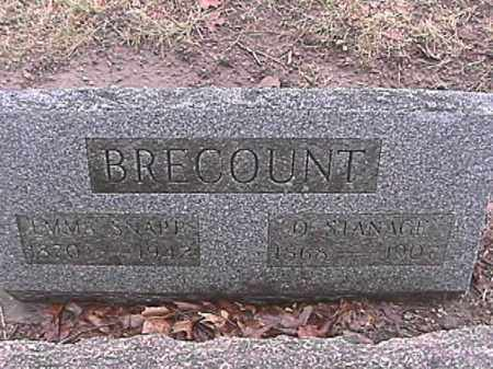 BRECOUNT, EMMA ALICE - Champaign County, Ohio | EMMA ALICE BRECOUNT - Ohio Gravestone Photos