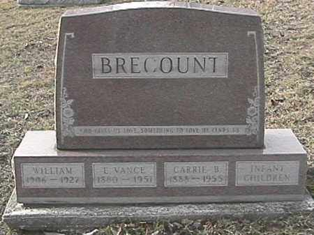 BRECOUNT, EDWARD VANCE - Champaign County, Ohio | EDWARD VANCE BRECOUNT - Ohio Gravestone Photos