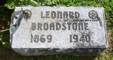 BROADSTONE, LEONARD - Champaign County, Ohio | LEONARD BROADSTONE - Ohio Gravestone Photos