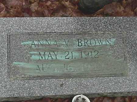 BROWN, ANNA VICTORIA HALL - Champaign County, Ohio | ANNA VICTORIA HALL BROWN - Ohio Gravestone Photos