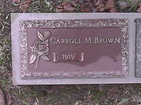 BROWN, CARROLL M - Champaign County, Ohio | CARROLL M BROWN - Ohio Gravestone Photos