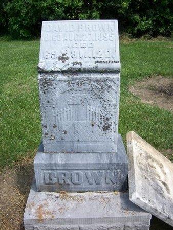 BROWN, DAVID - Champaign County, Ohio   DAVID BROWN - Ohio Gravestone Photos