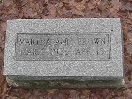 BROWN, MARTHA ANN - Champaign County, Ohio | MARTHA ANN BROWN - Ohio Gravestone Photos