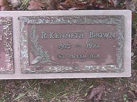 BROWN, R. KENNETH - Champaign County, Ohio | R. KENNETH BROWN - Ohio Gravestone Photos