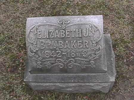 BRUBAKER, ELIZABETH JANE KISER - Champaign County, Ohio | ELIZABETH JANE KISER BRUBAKER - Ohio Gravestone Photos