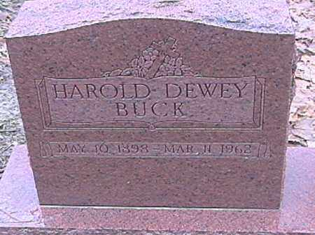 BUCK, HAROLD DEWEY - Champaign County, Ohio | HAROLD DEWEY BUCK - Ohio Gravestone Photos