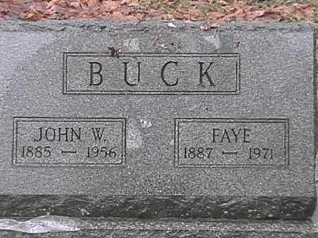 BUCK, JOHN W. - Champaign County, Ohio | JOHN W. BUCK - Ohio Gravestone Photos