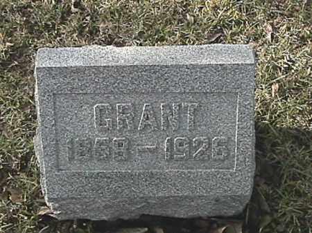 BURKIMER, GRANT - Champaign County, Ohio | GRANT BURKIMER - Ohio Gravestone Photos
