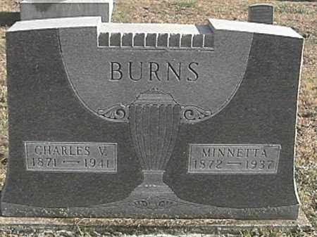 BURNS, CHARLES V. - Champaign County, Ohio | CHARLES V. BURNS - Ohio Gravestone Photos