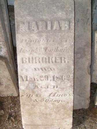 BUROKER, MARIAH - Champaign County, Ohio | MARIAH BUROKER - Ohio Gravestone Photos