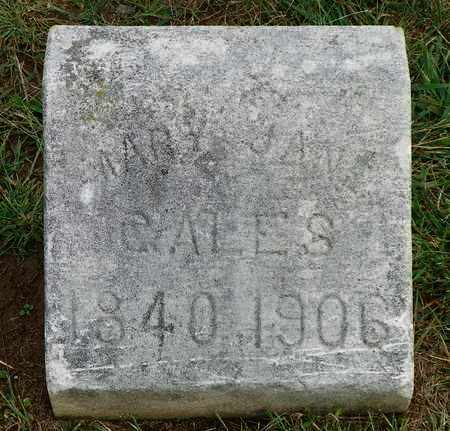 CALES, MARY JANE - Champaign County, Ohio | MARY JANE CALES - Ohio Gravestone Photos