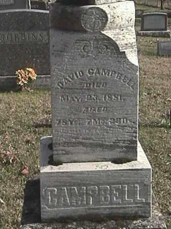 CAMPBELL, DAVID - Champaign County, Ohio | DAVID CAMPBELL - Ohio Gravestone Photos