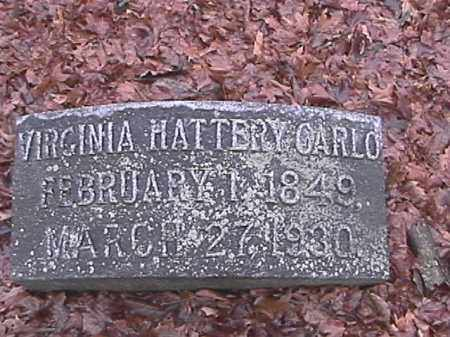 CARLO, VIRGINIA HATTERY - Champaign County, Ohio | VIRGINIA HATTERY CARLO - Ohio Gravestone Photos