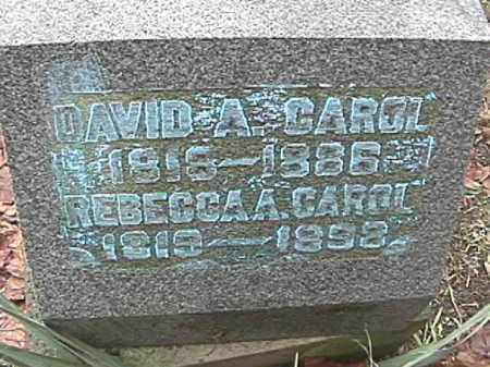 SIBERT CAROL, REBECCA A. - Champaign County, Ohio | REBECCA A. SIBERT CAROL - Ohio Gravestone Photos