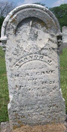 CAVE, AMANDA - Champaign County, Ohio | AMANDA CAVE - Ohio Gravestone Photos