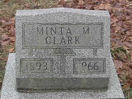 CLARK, MINTA M. - Champaign County, Ohio | MINTA M. CLARK - Ohio Gravestone Photos