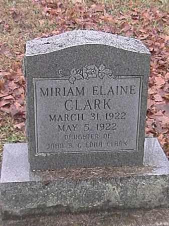CLARK, MIRIAM ELAINE - Champaign County, Ohio | MIRIAM ELAINE CLARK - Ohio Gravestone Photos