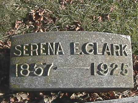 SPEECE CLARK, SERENA ELIZABETH - Champaign County, Ohio | SERENA ELIZABETH SPEECE CLARK - Ohio Gravestone Photos