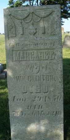 CLINTON, MARGARET - Champaign County, Ohio   MARGARET CLINTON - Ohio Gravestone Photos