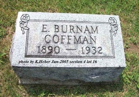 COFFMAN, EDMOND BURNAM - Champaign County, Ohio | EDMOND BURNAM COFFMAN - Ohio Gravestone Photos
