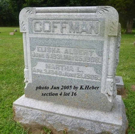 COFFMAN, ELISHA ALBERT - Champaign County, Ohio | ELISHA ALBERT COFFMAN - Ohio Gravestone Photos