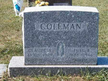 COLEMAN, LULU MAY - Champaign County, Ohio | LULU MAY COLEMAN - Ohio Gravestone Photos