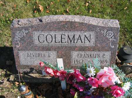 COLEMAN, BEVERLY J. - Champaign County, Ohio | BEVERLY J. COLEMAN - Ohio Gravestone Photos