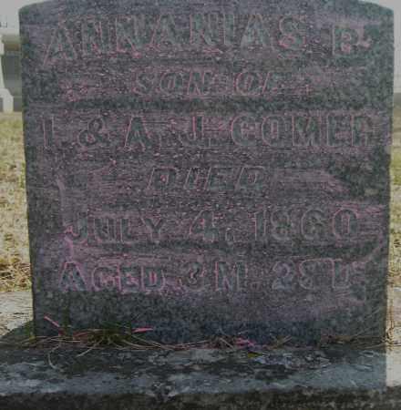 COMER, ANNANIAS B. - Champaign County, Ohio | ANNANIAS B. COMER - Ohio Gravestone Photos