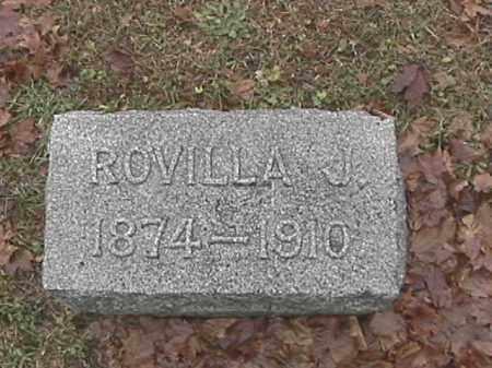 COMER, ROVILLA J - Champaign County, Ohio | ROVILLA J COMER - Ohio Gravestone Photos