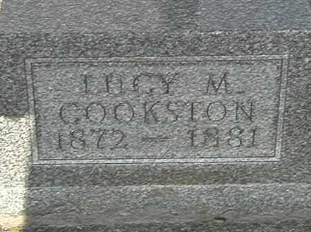 COOKSTON, LUCY M. - Champaign County, Ohio | LUCY M. COOKSTON - Ohio Gravestone Photos