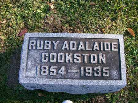 COOKSTON, RUBY ADALAIDE - Champaign County, Ohio | RUBY ADALAIDE COOKSTON - Ohio Gravestone Photos