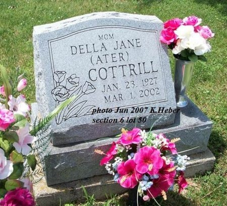 ATER COTTRILL, DELLA JANE - Champaign County, Ohio | DELLA JANE ATER COTTRILL - Ohio Gravestone Photos