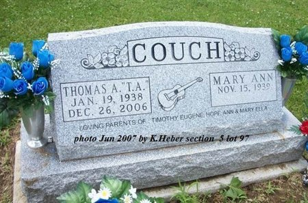 COUCH, THOMAS A - Champaign County, Ohio | THOMAS A COUCH - Ohio Gravestone Photos