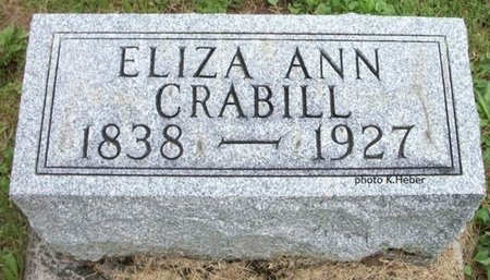 PACKER CRABILL, ELIZA ANN - Champaign County, Ohio | ELIZA ANN PACKER CRABILL - Ohio Gravestone Photos