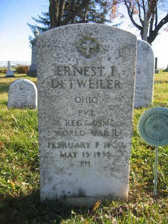 DETWEILER, ERNEST L. - Champaign County, Ohio | ERNEST L. DETWEILER - Ohio Gravestone Photos