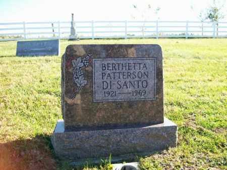 DI SANTO, BERTHETTA PATTERSON - Champaign County, Ohio   BERTHETTA PATTERSON DI SANTO - Ohio Gravestone Photos